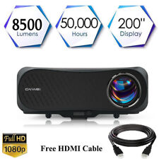 LED 8500lm Native 1080P Projector 4K Full HD Home Theater Movie Video Daytime US