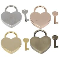 1 Set High Quality Metal Vintage Heart Shaped Lock Padlock with Key 45x59mm