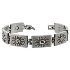 Face of the Sun Design Magentic Link Therapy Bracelet 8.5 inch Long #JBML051