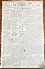 RARE 1822 EASTON MD newspaper USS ALLIGATOR CAPTURES 2 PIRATE SHIPS Capt Killed
