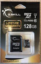 High Performance G.Skill Micro SD Card 128GB Class 10 MicroSDXC Flash w/ Adapter