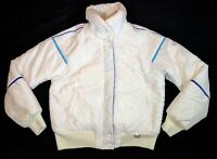 Obermeyer Ski Snowboarding Snow Winter Jacket Womens Size 10 White Nylon Blue