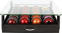 Nespresso Vertuoline Tempered Glass Top Storage Drawer Holder Coffee Capsules
