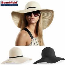 Sombrero de Mujer De Paja De A Tese Anchas Verano Elegante En Negro Beis Mar