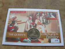 2003 Bahamas coin cover, $1 Virgin Islands - Queen's Coronation Jubilee