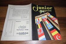 JUNIOR MAGAZIN -- SONDERHEFT EUROPA //  (erschienen zum Schuman-Plan) um 1950