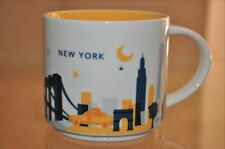Starbucks New York You Are Here 14oz Coffee Mug Cup YAH Collection NEW