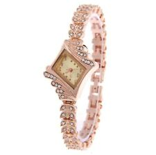 ROSE GOLD diamond  Designer Style Crystals Bling Ladies Women wrist Watches