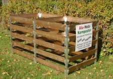Alu Holz Komposter 180 x 90 x 100 Kompostbehälter Gartenkomposter Aluminium