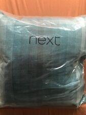 1x Next Large Teal Fulton Modish Woven Check Cushion 59x59cm Tartan Stirling