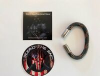 Paracord Bracelet...Bullet Casing...2nd Amendment...Nickel 9mm..Wood Camo