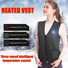 UK Adult Electric Vest Heated Cloth Jacket USB Warm Up Heating Pad Body Warmer