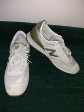 NEW BALANCE 620 JCrew White Suede Gold Salt Womens Sneakers Sz 7.5 (CW620JD2)
