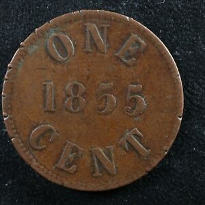 Halfpenny token Canadian Colonial #5 Free shipping Canada and the USA Week #28