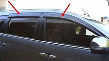 BLACK WINDOWS PROTECT SIDE DOORS VISORS FOR MITSUBISHI PAJERO SPORT 2016 SET OF4