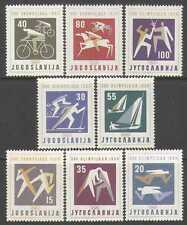 JUGOSLAVIA 1960 Olimpiadi/Sport/Cavalli/Ciclismo/Sci/Vela/Scherma 8 V (n26877)