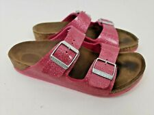 Birkenstock 34 Red Glitter Cosmic Sparcle Salina Kids Sandals Size 3