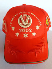 Ferrari F1 M Schumacher Red Hat Cap Embroided Gold Logo Snapback Collectable Nos