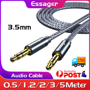 ESSAGER 3.5mm Male To Male Audio Cable AUX Cord For Phone Car Stereo CD Radio
