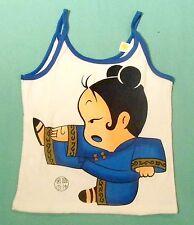 Markenlose ärmellose Mädchen-T-Shirts & -Tops mit Rundhals-Ausschnitt