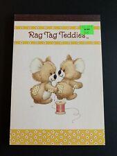 Vintage Rag Tag Teddies sewing Sangamon Tablet  Ruth Morehead - Last One
