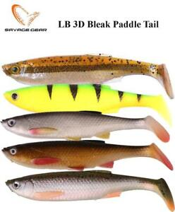 Savage gear Soft Baits LB 3D Bleak Paddle Tail  various sizes and colors