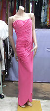 Goddess UK 14 Marvellous Pink Ruche Sexy Strapless Evening Dress Long Gown