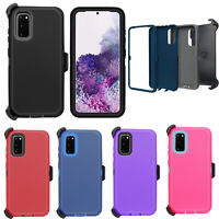 For Samsung Galaxy Note 20 S20 Ultra Defender Case Cover W/ Belt Clip Kickstand