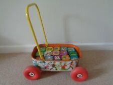 Chad Valley Children's Tin Plate Building Blocks & Trolley vintage rare