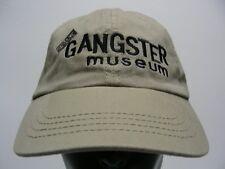 THE GANGSTER MUSEUM - BEIGE - ADJUSTABLE STRAPBACK BALL CAP HAT!
