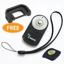 RC-6 Remote Control Canon EOS 5D-MarkII 7D 60D 600D 550D T4i + strap + eye cup