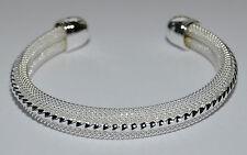 Hallmarked Sterling Silver 925 Mesh Design Bracelet.