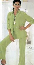 Bloomingdales NWT $89  100% Silk  Pants 12   Honeydew
