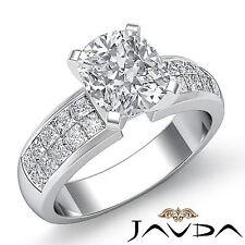 Lavish Cushion Diamond Invisible Engagement Ring GIA G SI1 14k White Gold 1.86ct