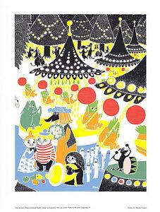 Moomin Poster Amusement Park Tove Jansson 24 x 30 cm