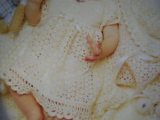 Baby's  6 piece  CROCHETED  LAYETTE.. PATTERN. ONLY  worked in 3 ply