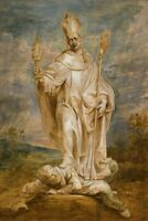 """oil painting 100% handpainted on canvas """"Saint Norbert Overcoming Tanchelm  """""""