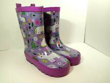 Kid Made Modern Kids Girls Toddler Unicorn Garden Rain Boots Purple