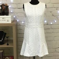 Marc by Marc Jacobs White Stretch Knit Dress with Circle Print Size Medium