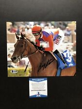 Gary Stevens autographed signed 8x10 photo Beckett BAS COA Jockey Seabiscuit