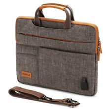 Laptop Bag Business Briefcase 10-17.3 Inch Shockproof Sleeve Case USB Charging