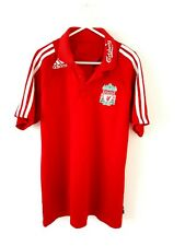 Liverpool Polo Shirt. Medium. Adidas. Red Adults Short Sleeves Football Top M.