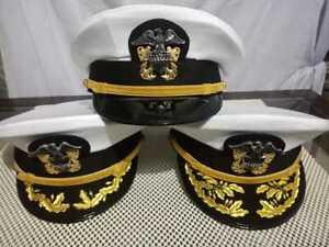 WW2 USA NAVY marine captain white cap reproduction ship in 3 days