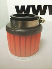 MOTORCYCLE CLAMP ON RED FOAM POWER AIR FILTER 42mm WITH CHROME CAP