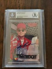Jeff Gordon Signed Auto 1996 KnightQuest Nascar Card BAS Beckett