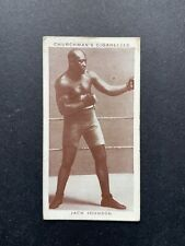 More details for churchman cigarette card - boxing personalities 20 jack johnson vgc
