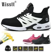 Women Work Safety Shoes Indestructible Steel Toe Cap Boots Air Cushion Sneakers