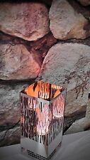 Colonne à flamme cheminée électrique éclairage inox 30cm Firebox edelstahl458