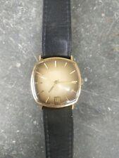 Gents 9ct Gold Rotary 17 Incabloc Cushion Wristwatch Watch Hallmarked