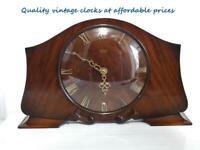 Vintage 50's very rare Smiths 8 day 7 jewels mechanical mantle clock-Mahogany